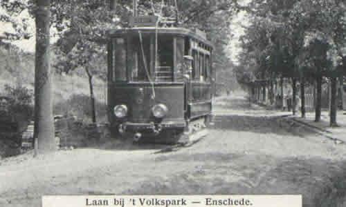 De tram in Enschede