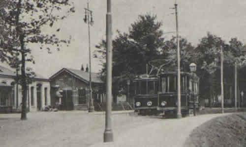 Trams bij het Station Staatsspoor Enschede